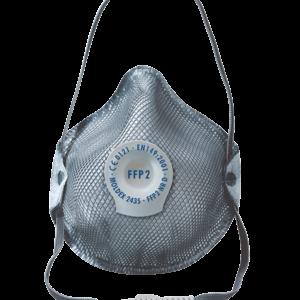 Mascarilla protección FFP2 D con válvula con capa de carbón activo