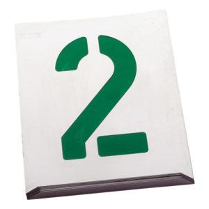 Numeración para rotular estilo Arial
