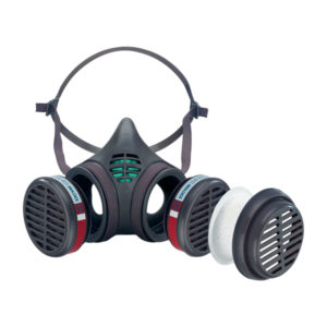 Máscara buco-nasal A1 P2 D reutilizable