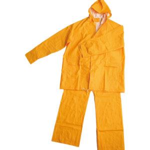 Traje de agua, PVC amarillo