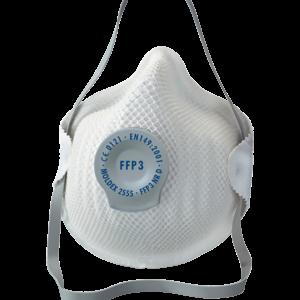 Mascarilla protección FFP3 D con válvula