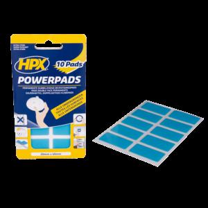10 tiras adhesivas doble cara HPX Powerpads